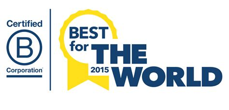 best logos in the world 2015 b corp best for the world honorees