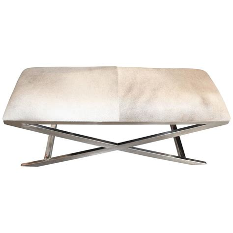 hide bench hide and chrome x base bench at 1stdibs