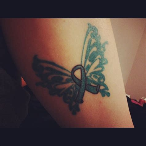 ovarian cancer ribbon tattoos ovarian cancer ribbon lymphoma