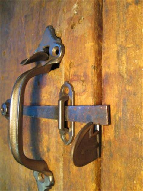 One Antique Barn Door Handle Thumb Latch Set Antique Barn Door Handles