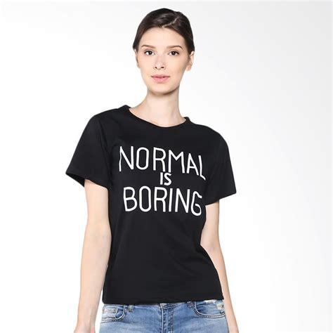 Kaos Larel Kaos Simple Wanita Kaos Trendy Kaos Polos Casual Sh jual jclothes kaos wanita branded normal is boring hitam harga kualitas