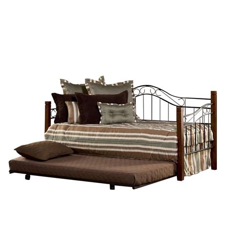 Black Daybed With Trundle Hillsdale Matson Daybed With Trundle In Cherry And Black 1159dblhtr