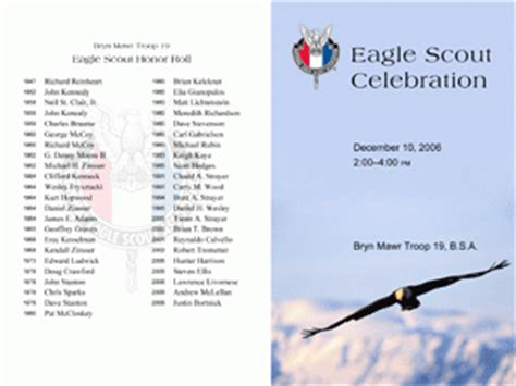 eagle scout celebration program on behance