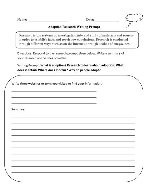 englishlinx writing prompts worksheets