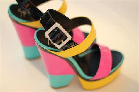 chagne colored wedges pastel and neon wedges bright colored platform heels