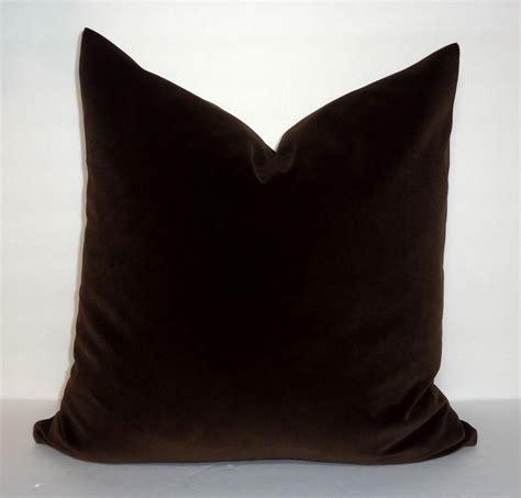 Brown Velvet Pillows by Brown Velvet Pillow Cover Throw Pillow Cover Decorative