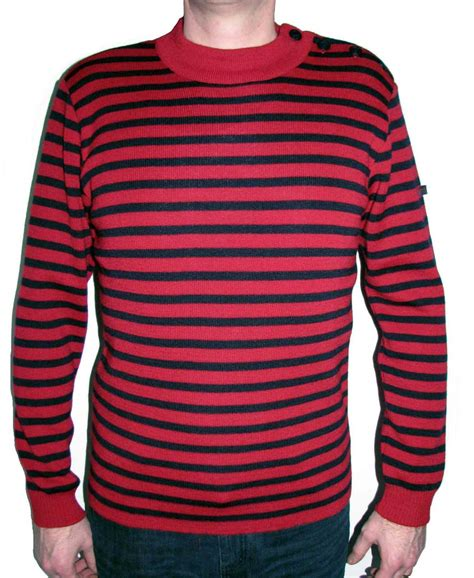 Sweater Vgod Redmerch 1 and navy blue striped sweater coat nj