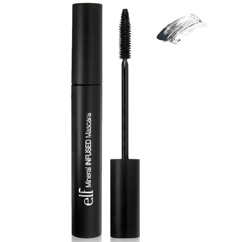 Mascara Eyeliner E L F Cosmetics Mineral Infused Mascara Black 0 28 Oz