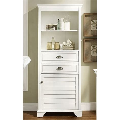 crosely lydia linen cabinet in white cf7001 wh
