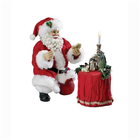 best 28 kneeling santa nativity a kneeling santa