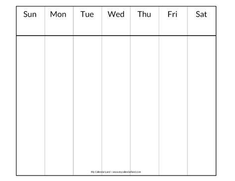 printable weekly calendar template blank calendar printable my calendar land