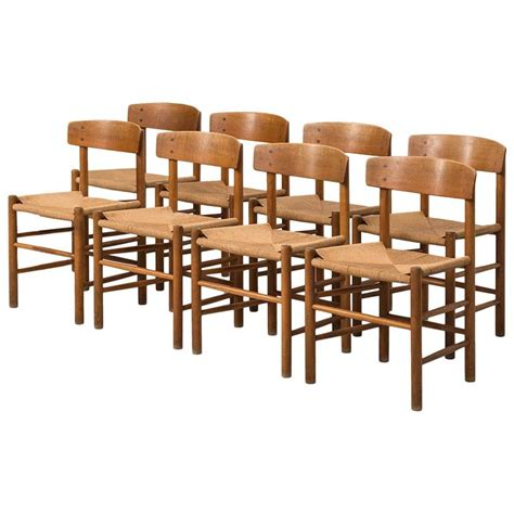 Shaker Dining Chairs B 248 Rge Mogensen Shaker Dining Chairs By Fdb M 248 Bler In Denmark At 1stdibs