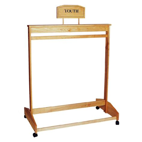 hangbar wooden clothing rack trio display