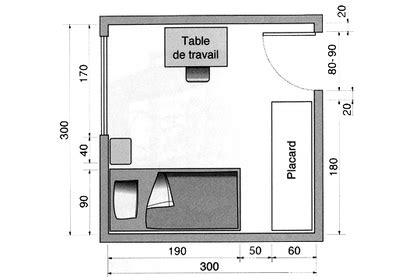 Mettre Un Lit Dans Un Studio by Plan Chambre O 249 Mettre Le Lit Dans La Chambre C 244 T 233