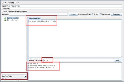 test regular expression regex regural expression extractor in jmeter stack