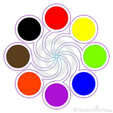 8 basic colors color palette with eight basic colors stock image