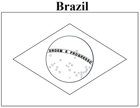 Flag Of Brazil Coloring Page coloring pages brazil flag coloring page brazil