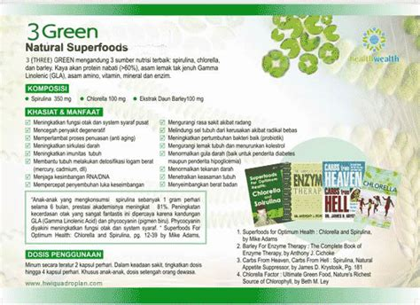 3 Green Spirulina Superfoods 3 green tahan lapar 10jam superfood spirulina