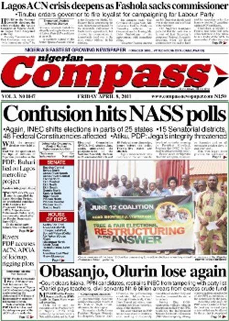 latest nigerian news nigerian newspapers online nigerian compass epaper compass online newspaper