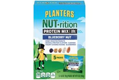 Planters Digestive Health Mix by Planters Nut Rition Blueberry Nut Protein Mix 9 Oz Kraft