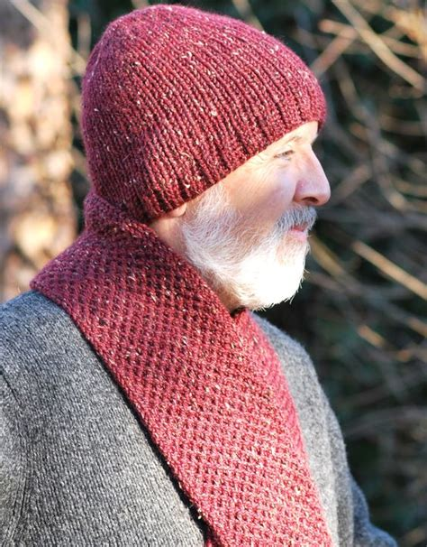 knitting pattern for mens scarf and hat knit hats knits and scarfs on pinterest