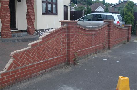 Front Garden Wall Designs Front Garden Wall Bricklaying In Benfleet Essex