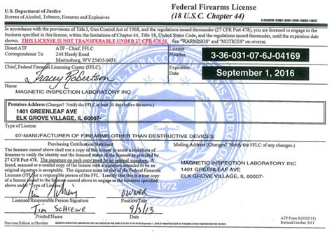 Testimonials 2013 Firearm License federal firearms license