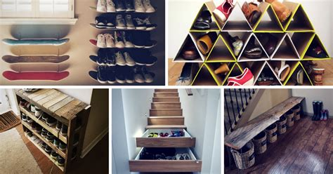 space saving shoe storage ideas diy archives homelovr