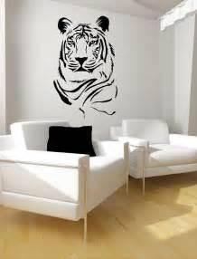 items similar to tiger portrait vinyl lettering animal