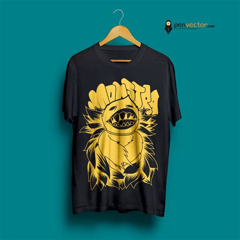 design shirt vector monstra t shirt design vector free vector