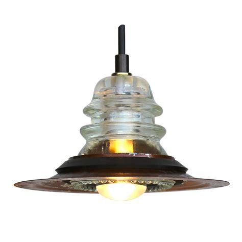 Insulator Pendant Light Insulator Light Pendant 7 Quot Rusted Metal 120v 40w Bulb Railroadware
