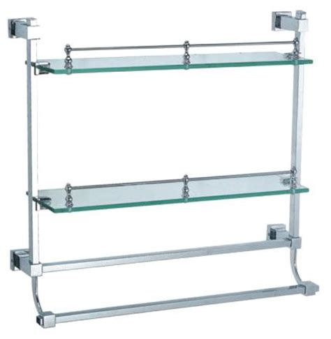 Glass Bathroom Shelves With Towel Bar Bathroom Glass Shelves With Towel Bar Design Decoration