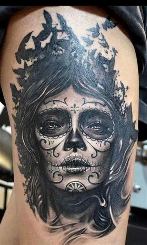 mexican death mask tattoo designs 10 best santa muerte images on tatoos