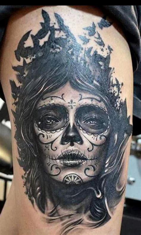 death mask tattoo designs 10 best santa muerte images on tatoos