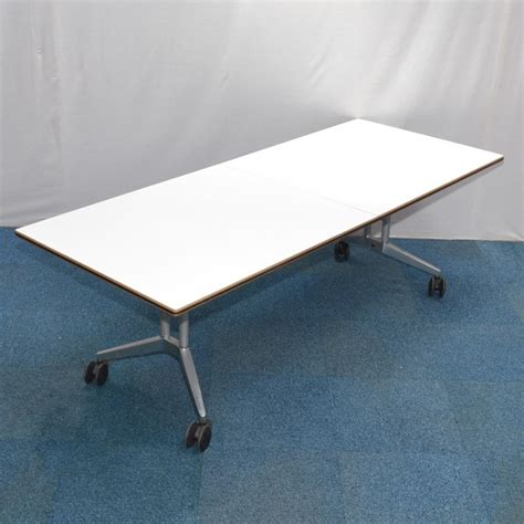 white fold up table wilkhahn confair white 2250x900 fold up meeting table
