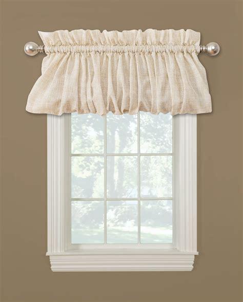 pouf valance curtains essential home 72 x 18 quot linen pouf valance shop your way