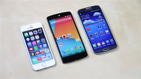 Hp Iphone S4 nexus 5 vs apple iphone 5s vs samsung galaxy s4