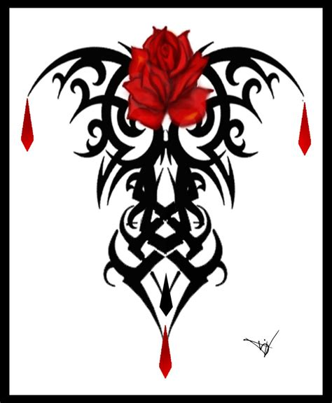 gothic black rose tattoo designs v by herron advanced photoshop