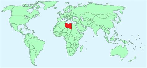 libya map in world libya facts and figures