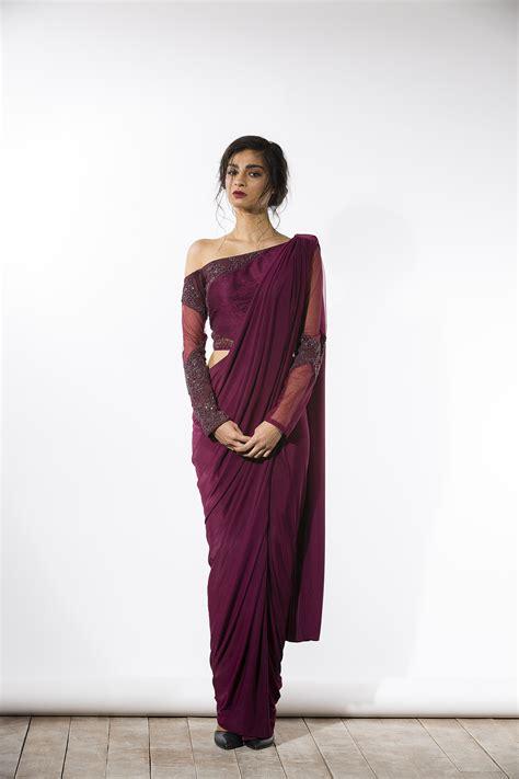 Hindie Blouse Hijao 55k saree drape and shoulder choli blouse