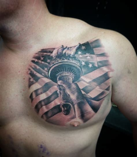 american flag chest tattoo tattoos by wacky statue of liberty american flag