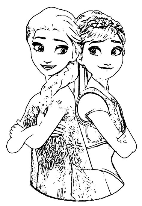 coloring page frozen fever anna and elsa frozen fever coloring pages gallery free