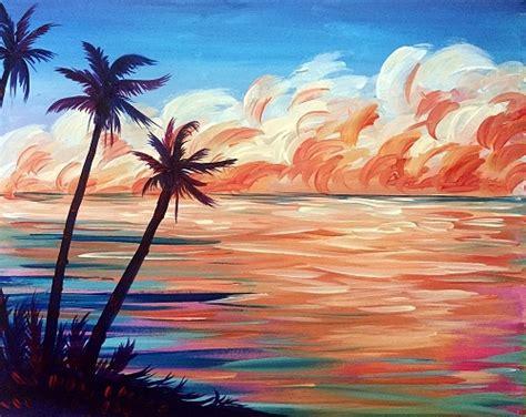 paint nite reviews island paint nite tropical
