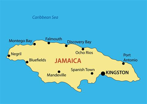 map usa and jamaica large map of jamaica with major cities jamaica