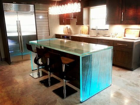 glass kitchen island downing designs on quot textured backlit glass