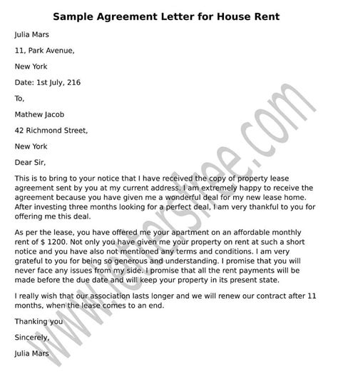 Rent Settlement Letter sle agreement letter for debt settlement agreement
