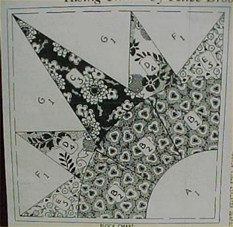 Rising Quilt Block Pattern by Vintage Quilt Pattern Rising Sun Burst 1940s Pieced Mail