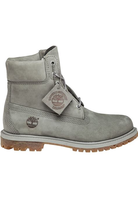 timberland boots grey timberland premium 6 inch nubuck boots in gray lyst