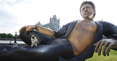 huge sexy jeff goldblum statue     world  adweek