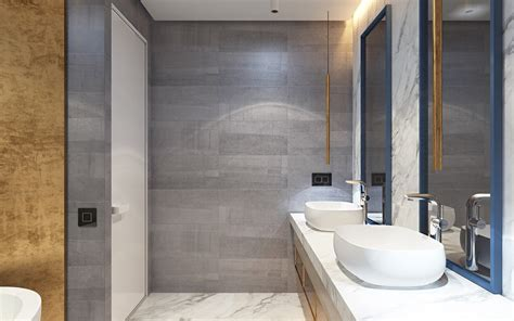 Modern Gray Bathrooms by 3 Modern Homes In Many Shades Of Gray